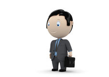 Manager. Social 3D characters Stock Photos