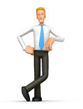 Manager stands next to a blank place Royalty Free Stock Images