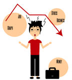 Manager stress job graph vector Royalty Free Stock Image