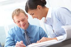 Manager and subordinate royalty free stock images