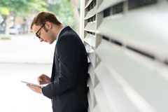 Manager with tablet Royalty Free Stock Photo