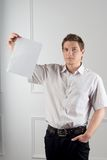 Manager takes documents Royalty Free Stock Photography