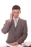 Manager talking on phone Stock Image