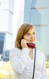 Manager with telephone Stock Photography