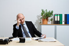 Manager thoughtfully in a negotiation Royalty Free Stock Photography