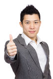 Manager with thumb up Stock Photo
