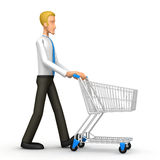 Manager with trade cart Stock Photography
