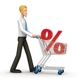 Manager with trade cart Stock Image