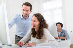 Manager training young attractive people Stock Images