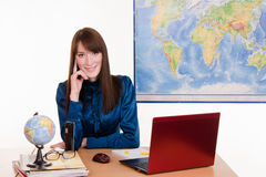 Manager of a travel agency Stock Photo