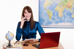 Manager of travel agency Stock Image