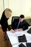 Manager und Assistent Stockbild