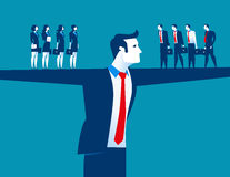 Manager und Geschäftsteam stock abbildung