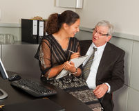 Manager und Sekretär Romance Stockfotografie