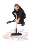 Manager and vacuum cleaner Stock Image