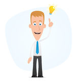 Manager visited idea stock illustration
