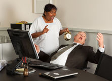 Manager waking up Stock Images