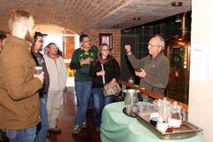 Manager Walter Stallmann explaining process to tour group. Royalty Free Stock Photos
