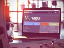 Manager Wanted 3d Stock Afbeeldingen