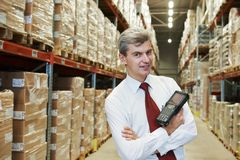 Manager in warehouse Stock Photography