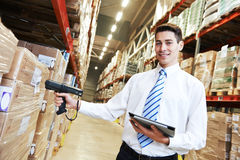 Manager in warehouse Stock Image
