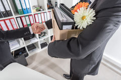 Manager welcoming a new employee Royalty Free Stock Images