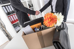 Manager welcoming a new employee Stock Photography