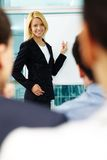 Manager at whiteboard Stock Images