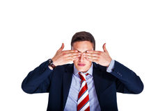 Manager With His Eyes Closed Royalty Free Stock Photography
