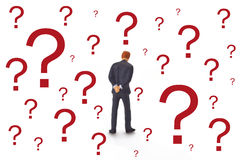 Manager With Question Mark Stock Image