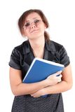 Manager woman, in a hysterics, isolated. Royalty Free Stock Photo