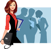Manager woman and staff Royalty Free Stock Images