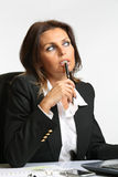 Manager woman thoughtful Stock Photo