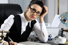 Manager woman working Stock Images