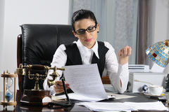 Manager woman working Stock Photography
