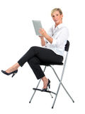 Manager woman working with ipad Royalty Free Stock Image