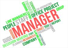 MANAGER - word cloud Royalty Free Stock Image