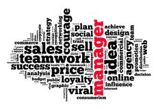 Manager word cloud concept Royalty Free Stock Photography