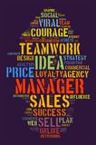 Manager word cloud concept Stock Photography