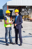 Manager worker handshake Royalty Free Stock Image