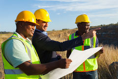 Manager worker quarry Royalty Free Stock Image