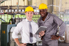 Manager worker tablet computer Stock Photography