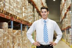 Manager worker  in warehouse Royalty Free Stock Photos