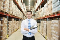 Manager worker  in warehouse Royalty Free Stock Images