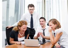 Manager with  workers on meeting Royalty Free Stock Images