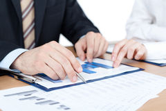Manager working with diagrams Royalty Free Stock Image