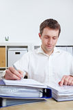 Manager working at his desk Stock Photos