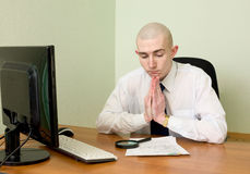 Manager on a workplace Stock Photo