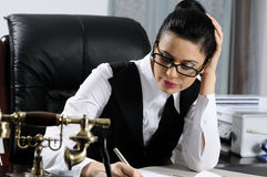 Manager Writing Stock Photography