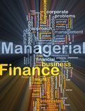 Managerial finance background concept glowing vector illustration